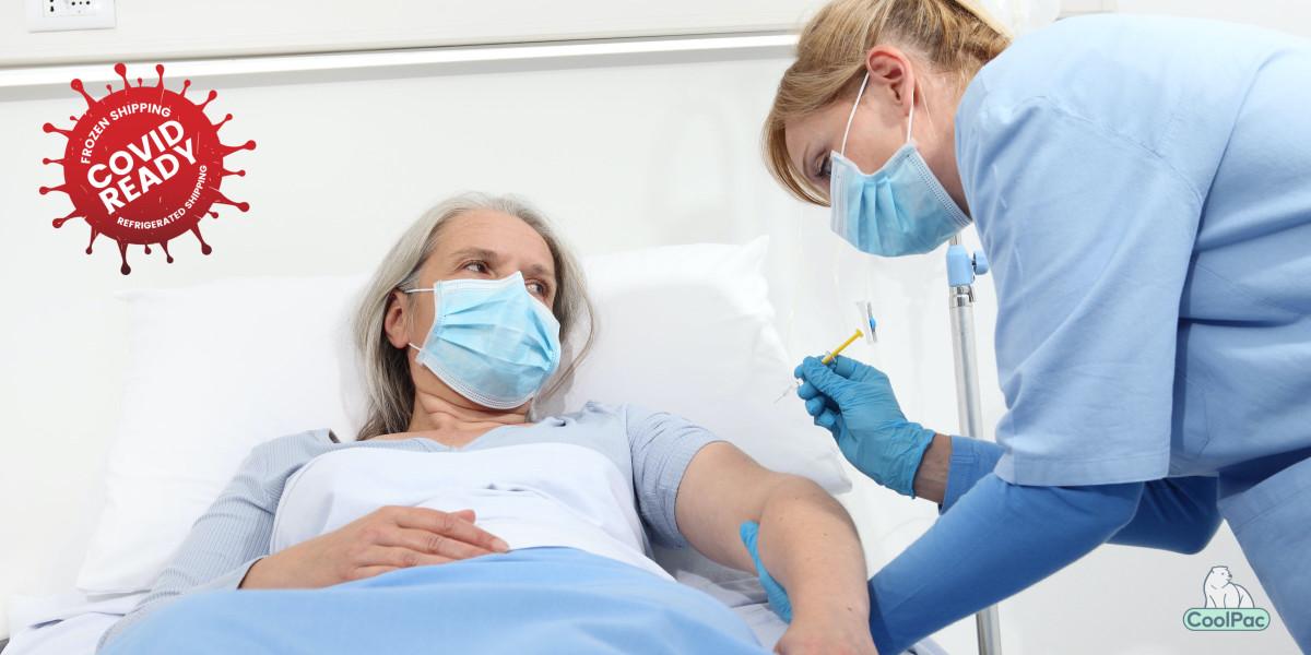 Elderly person COVID vaccination